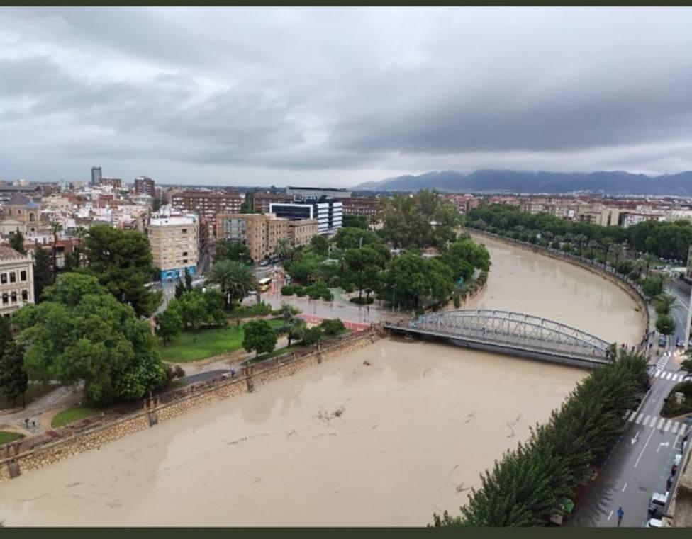Estado del Segura a su paso por Murcia