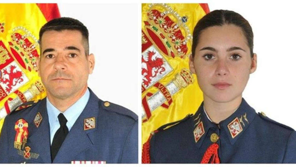 El comandante Melero y la alumna Rosa Almirón, fallecidos en el accidente de avión