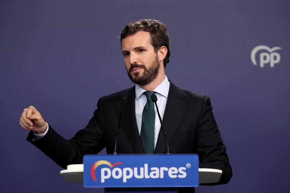 Casado celebra el escaño del PP por Vizcaya para dar voz a los constitucionalistas ante el nacionalismo excluyente