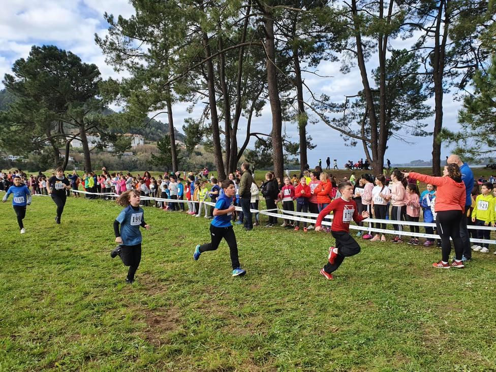 Campeonato Escolar de Cross en el pinar de A Magdalena, Cabanas
