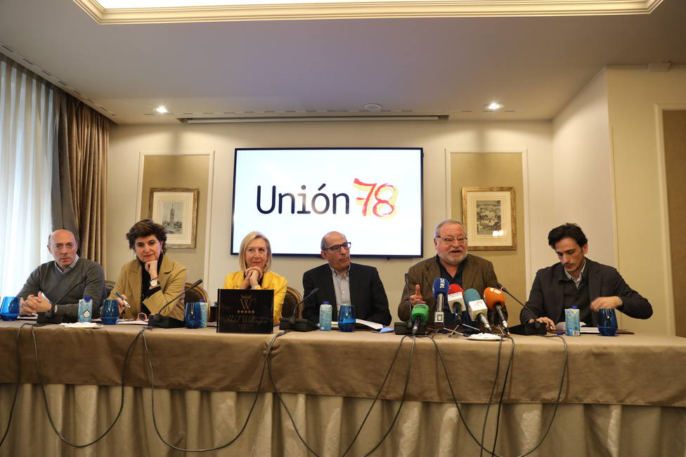 Rueda de prensa para presentar la Plataforma Unión 78