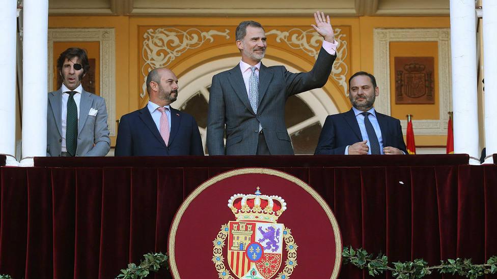Felipe VI en el Palco Real de Las Ventas en la Corrida de Beneficencia de 2019