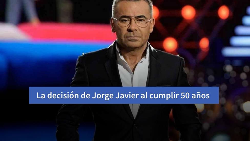 La firme decisión que ha tomado Jorge Javier Vázquez en su 50 cumpleaños