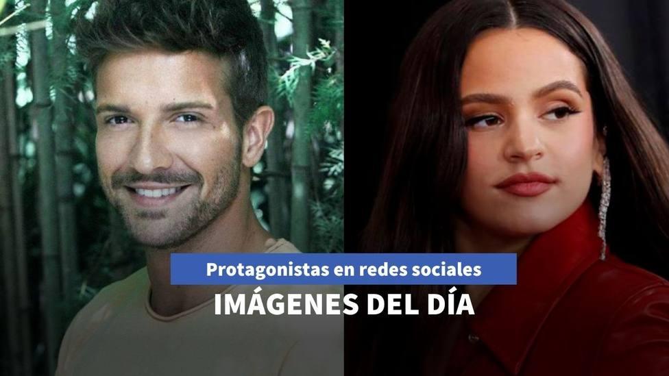 Imágenes del día: el nuevo rostro de Rosalía y la pillada a Pablo Alborán