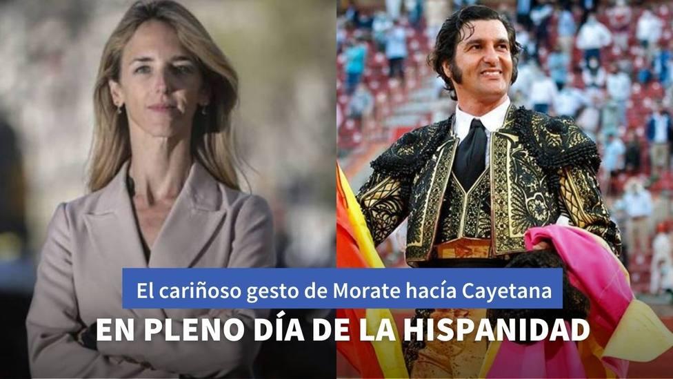 El cariñoso gesto de Morante de la Puebla a Cayetana Álvarez de Toledo en pleno Día de la Hispanidad