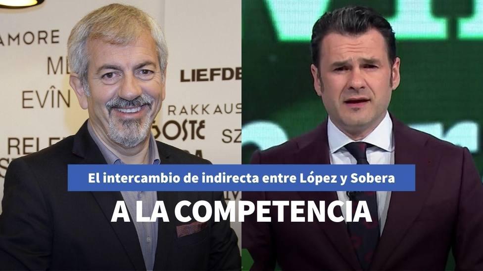 El intercambio de reproches de Iñaki López y Carlos Sobera que tensa la relación entre Telecinco y Antena 3