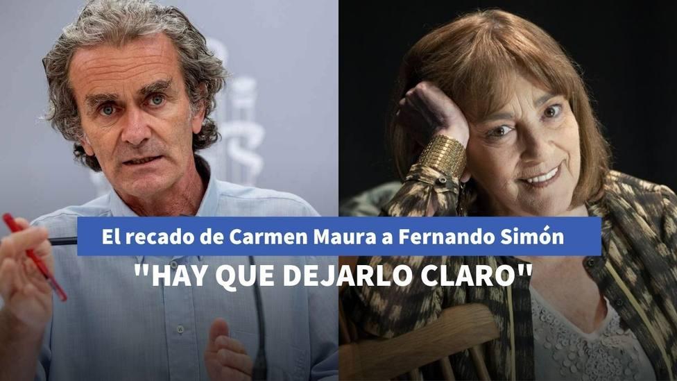 El recado de Carmen Maura a Fernando Simón en 'La Sexta Noche' por sus palabras sobre el ocio en coronavirus