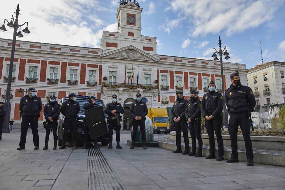 Policía de Madrid despliega un dispositivo especial de seguridad en la Operación Navidad