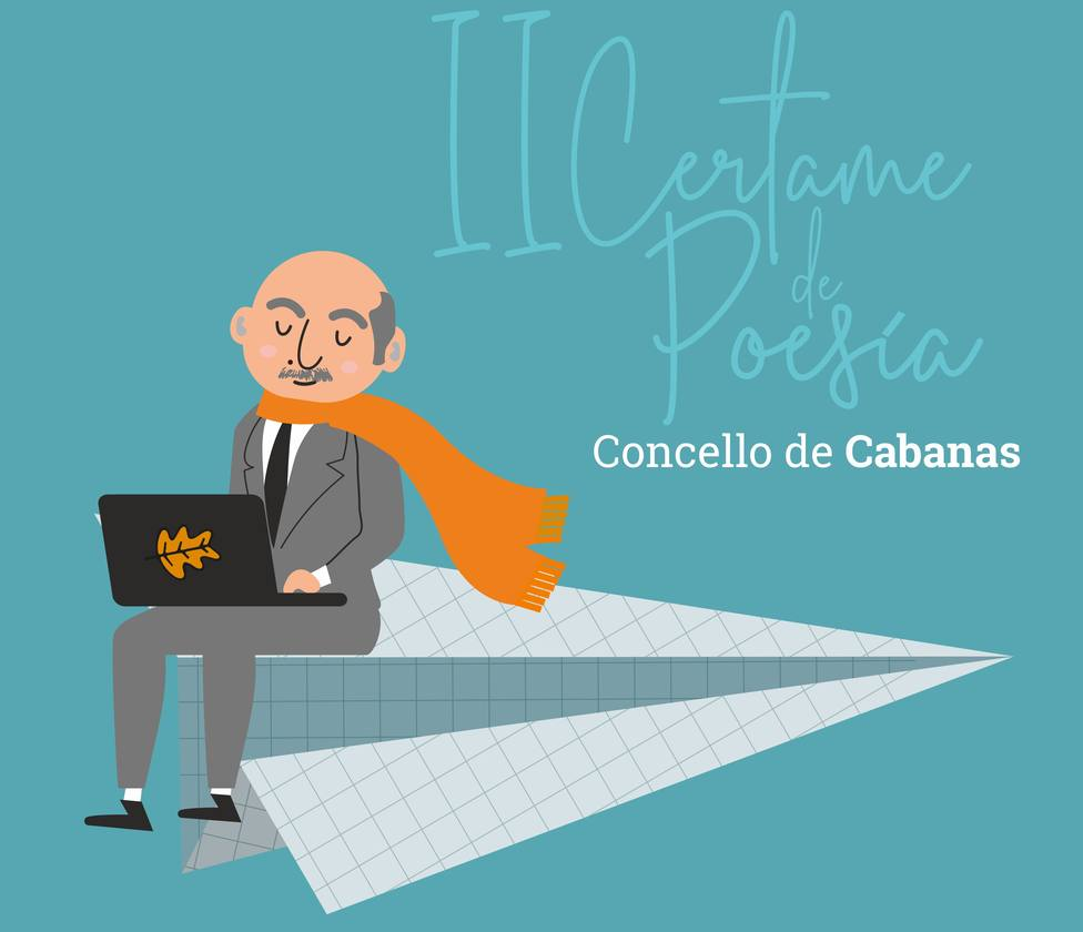 Cartel del II Concurso de Poesía de Cabanas