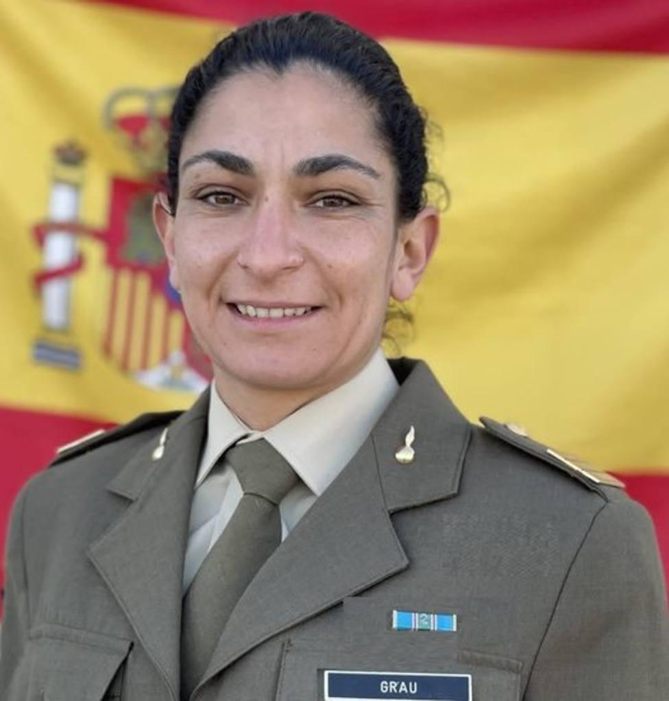 Débora Grau (33 años), natural de Badajoz y sargento del Ejército esopañol. Foto: Ejército de Tierra