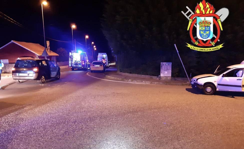Intersección de carreteras en donde ocurrió la colisión - FOTO: SPEIS Narón