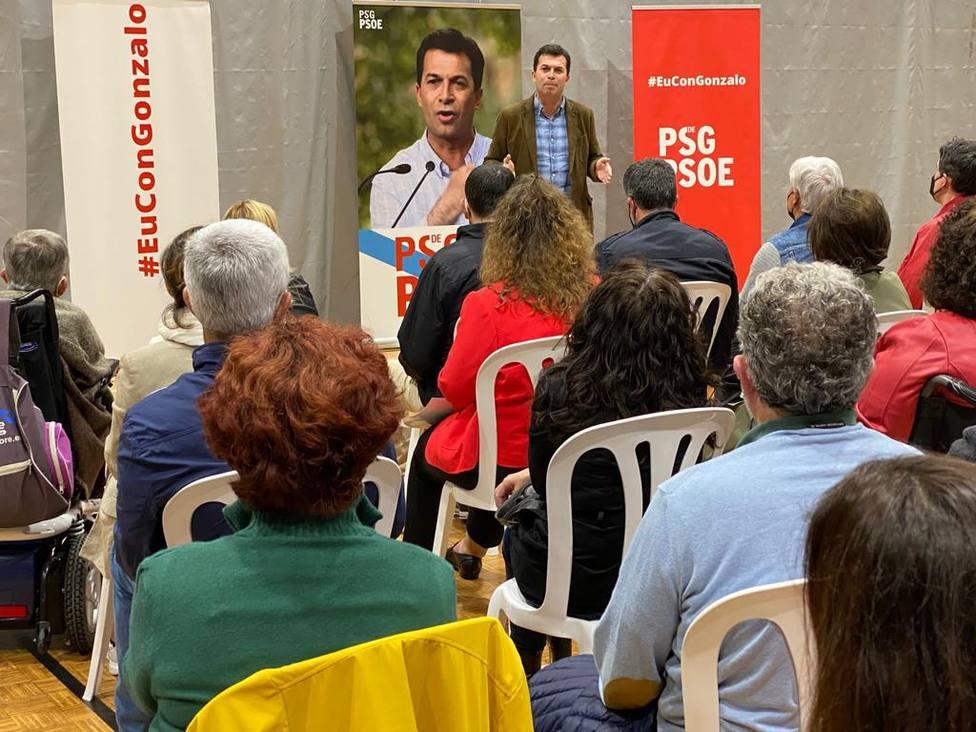 Gonzalo Caballero en su intervención en Cedeira - FOTO: Cedida