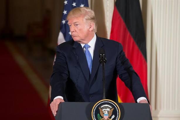 Al ser preguntado, Trump rechazó comentar si ha hablado personalmente con Kim