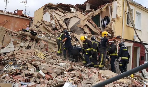 Un teléfono móvil salva la vida de una joven tras una fuerte explosión de gas en Burgos.
