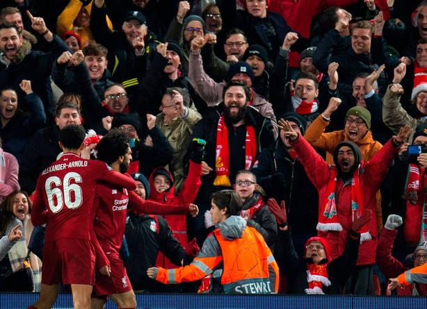Salah celebra el gol del Liverpool (EFE)
