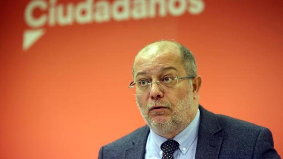 Francisco Igea en rueda de prensa en Ciudadanos
