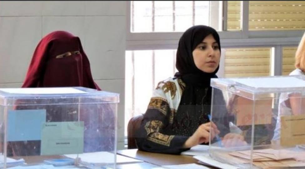 Vox impugnará una mesa electoral de Ceuta presidida por una mujer con burka
