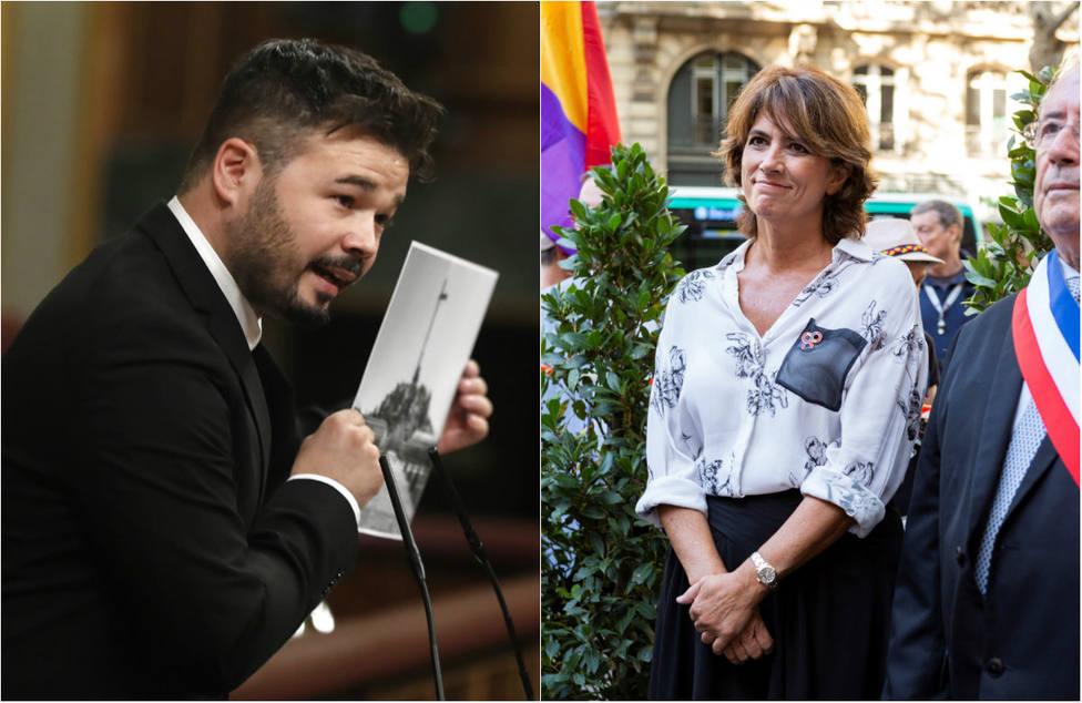"""Rufián acusa al Ministerio de Justicia de falta de """"rigor"""" histórico y las redes le recuerdan el pasado de ERC"""
