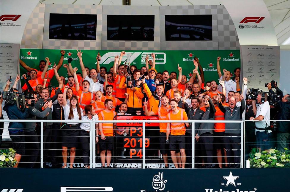 Podio GP Brasil