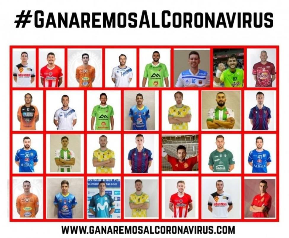 Fútbol sala.- Los jugadores de Primera División de fútbol sala lanzan la campaña #GanaremosAlCoronavirus