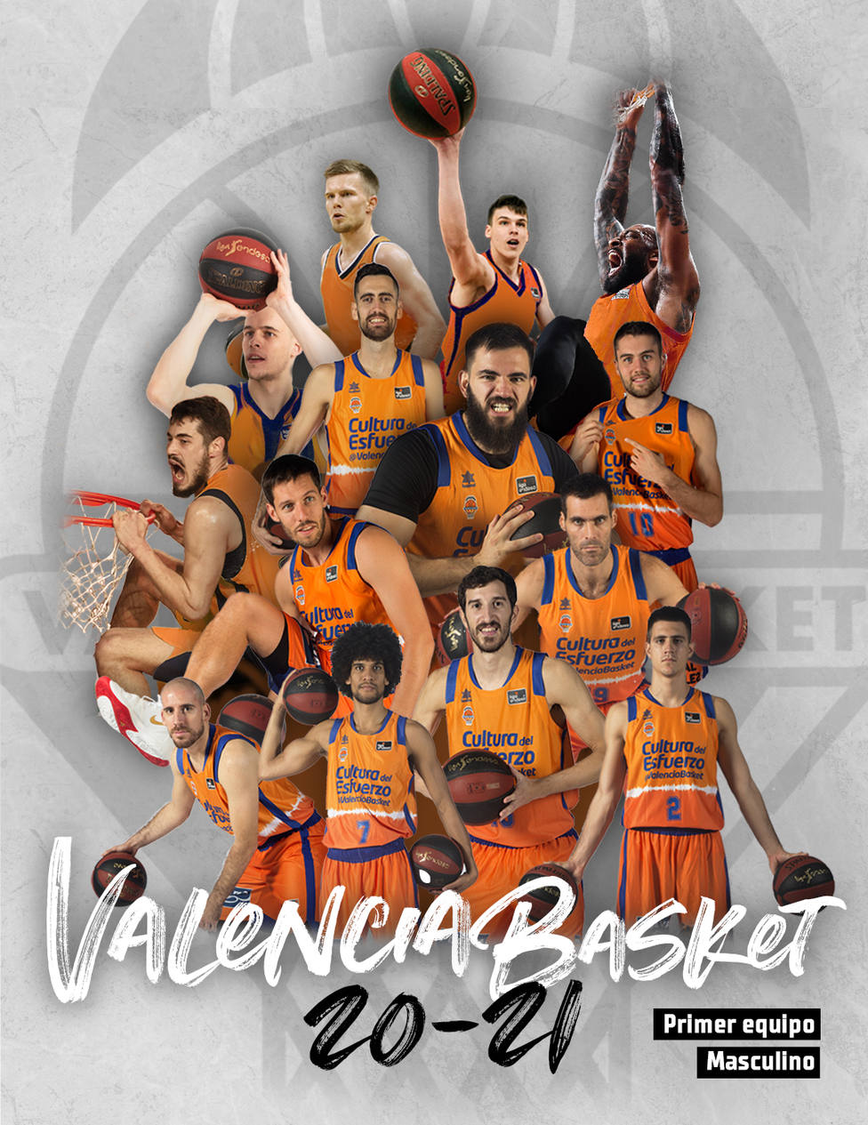 Plantilla de Valencia Basket para la temporada 20-21