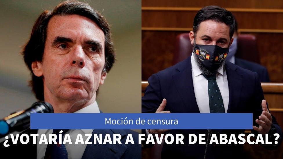 La sincera respuesta de Aznar sobre si apoyaría la moción de censura de Vox para hacer presidente a Abascal