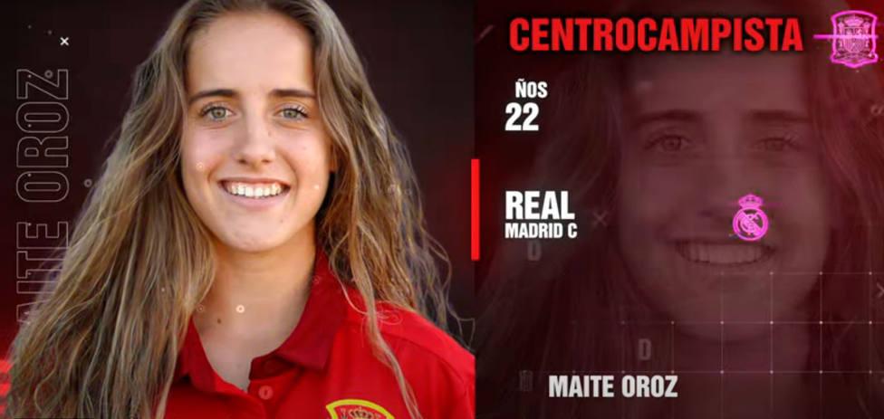 Maite Oroz, gran novedad en la convocatoria de la selección española