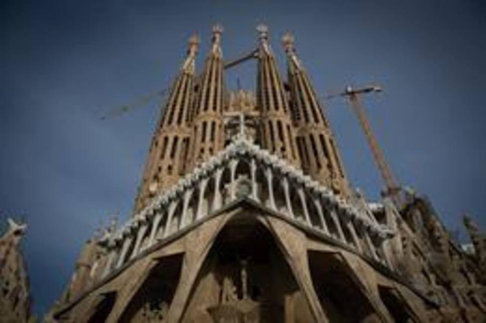 La Sagrada Familia, en Barcelona, Catalunya (España)