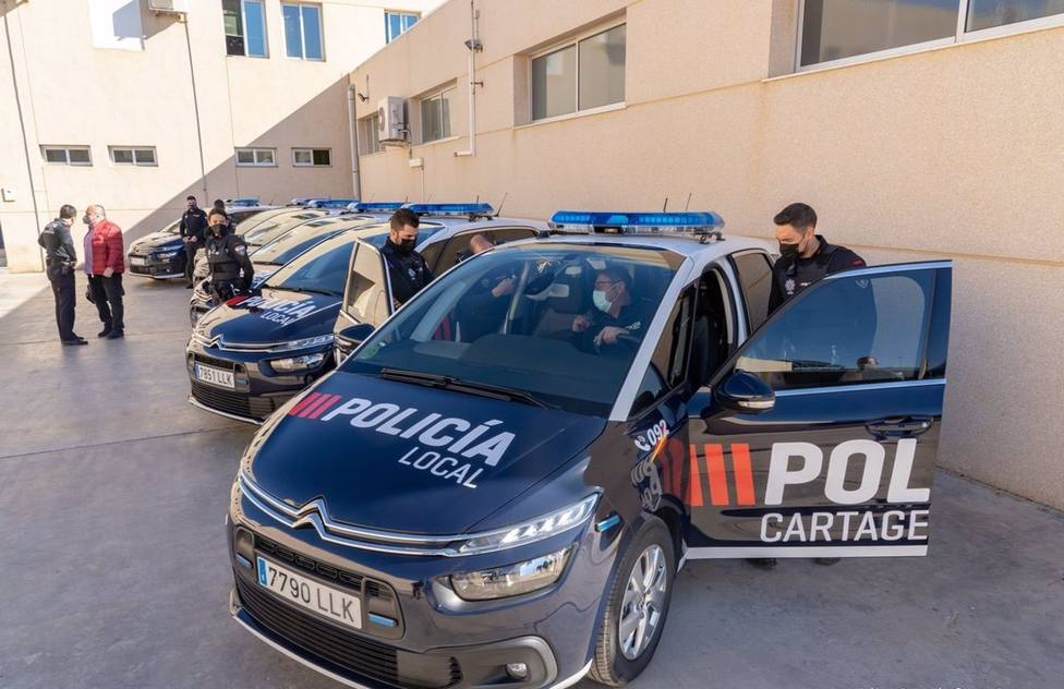 La Policía Local de Cartagena estrena los primeros seis coches patrulla de la nueva remesa
