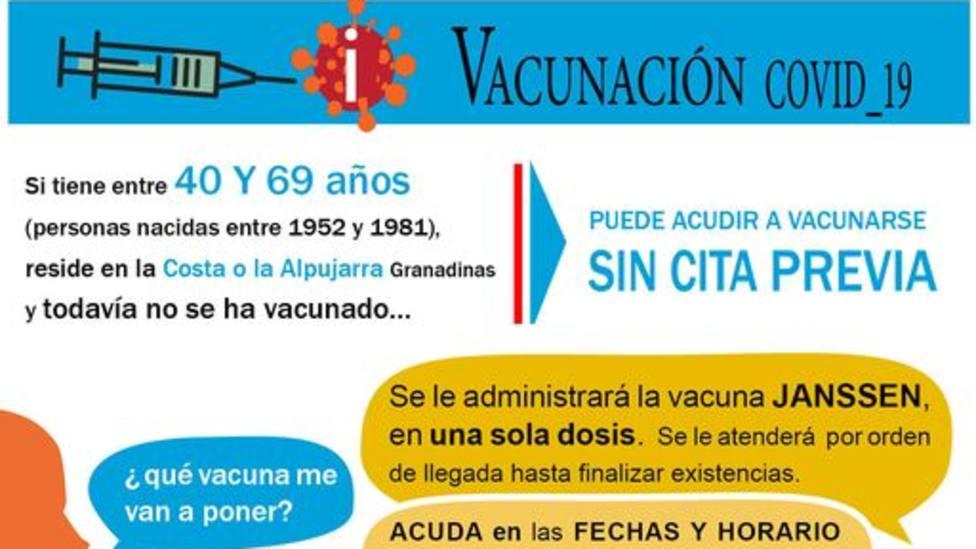 Llamamiento a vacunarse a las personas mayores de 40 años con una única dosis de Janssen