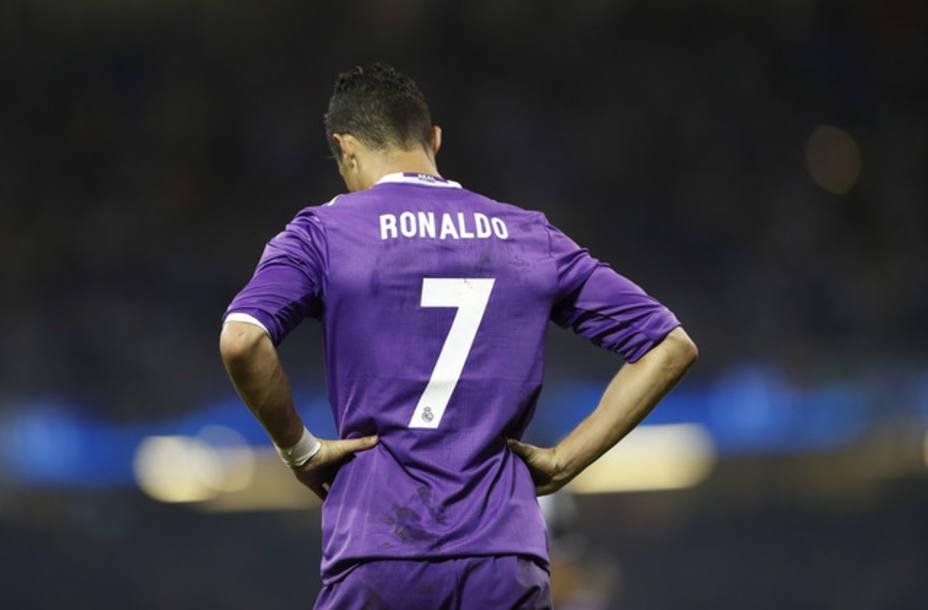 Cristiano Ronaldo, de espaldas