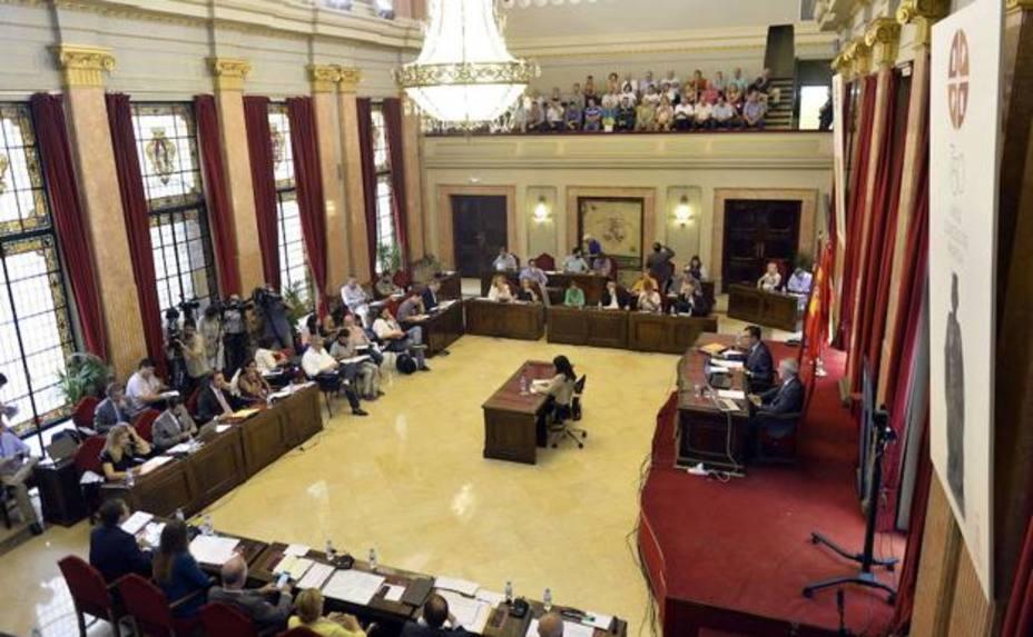 El Ayuntamiento de Murcia, con los votos a favor de Partido Popular y Cidadanos, aprueba los presupestos 2018