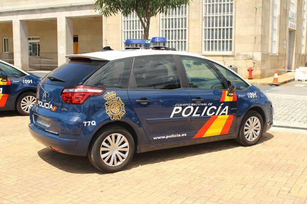 Coche de policía imagen de archivo