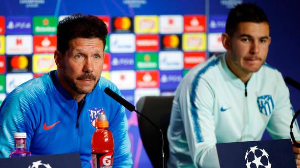 Diego Simeone, en rueda de prensa. EFE
