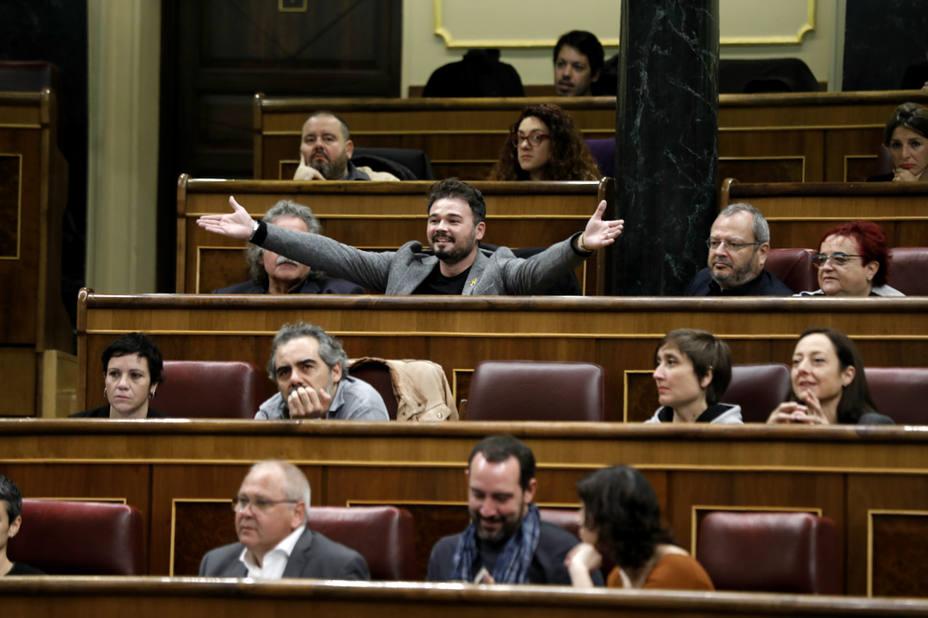 Rufián asegura que se ha sacado a Franco del Valle de los Caídos y se ha metido en la Junta de Andalucía