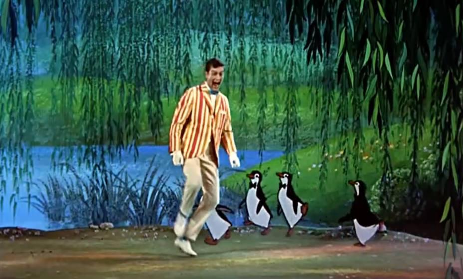 Dick Van Dyke en Mary Poppins