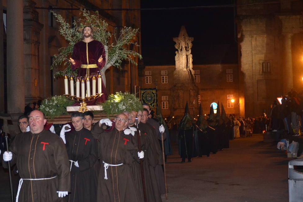 La procesión de la Oración en el Huerto sale este Martes Santo en Santiago