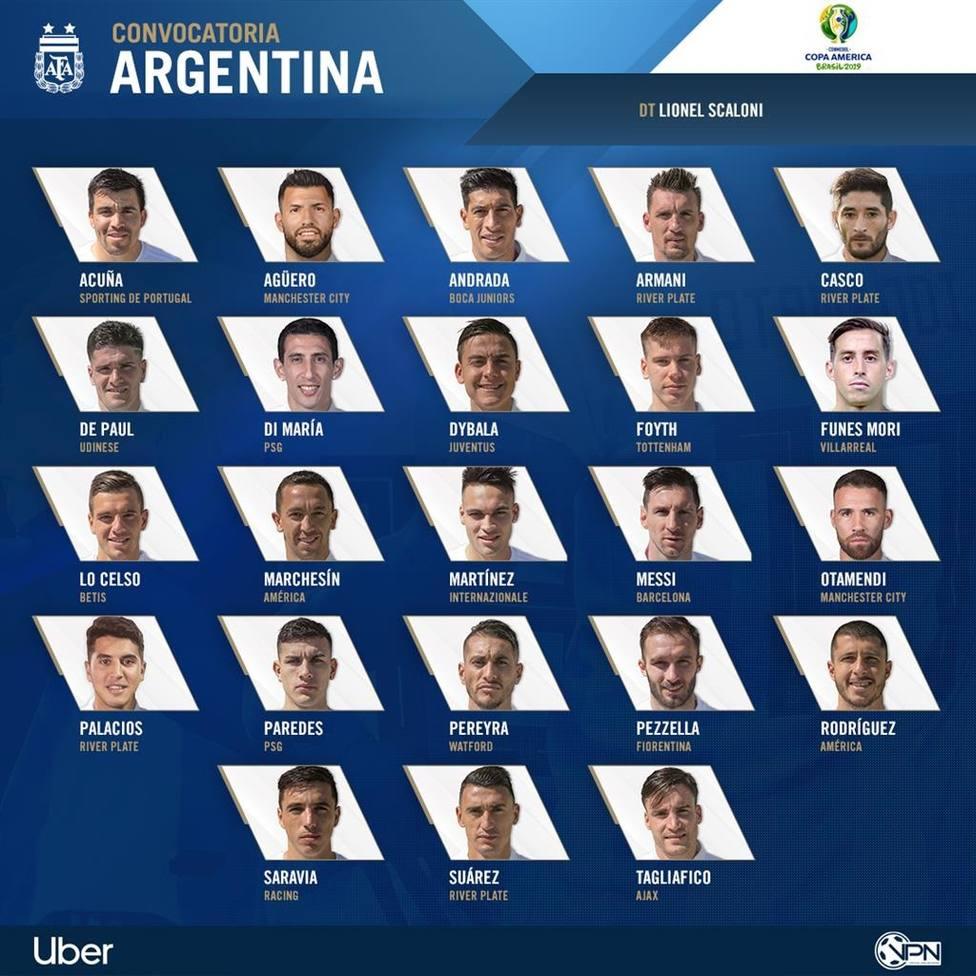 Messi lidera la renovada convocatoria de Argentina para la Copa América