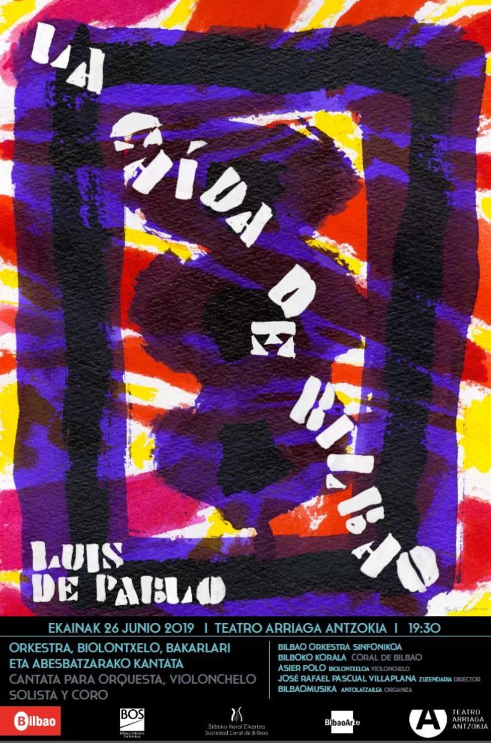 Cartel del concierto La caíd de Bilbao