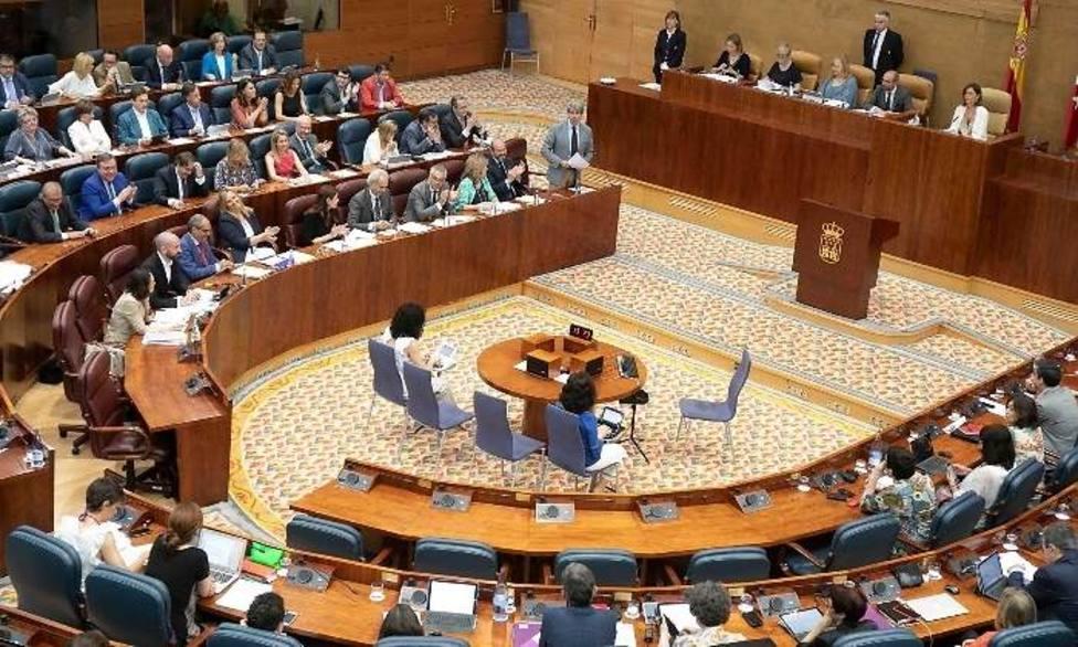 La Asamblea de Madrid celebra un pleno de investidura inédito sin candidato