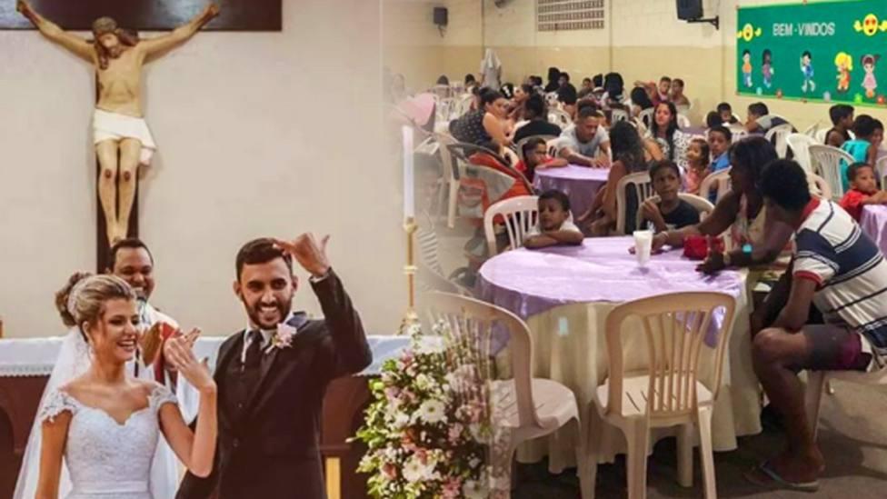 Se dejaron un dineral en su boda... invitando a comer a 160 personas necesitadas