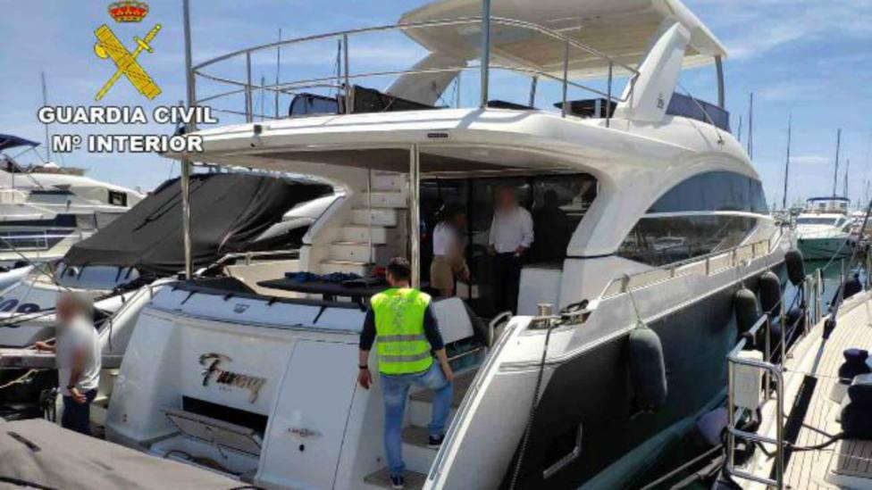 Yate de lujo que la Guardia civl ha recuperado en Turquiía tras ser robado en Palma