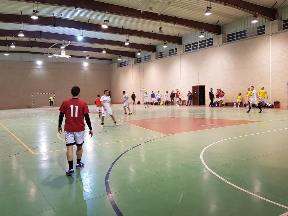 Un partido de fútbol sala