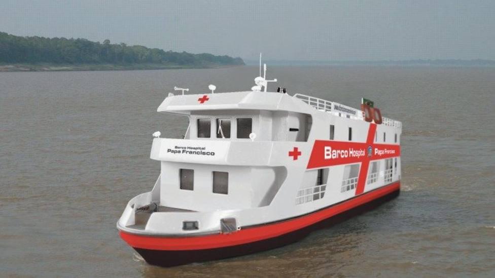 El barco Papa Francisco que surca el mar para asitir a la Amazonía