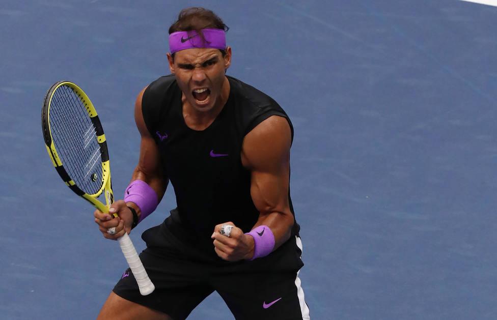 Rafa Nadal celebra un punto en el US Open (EFE)