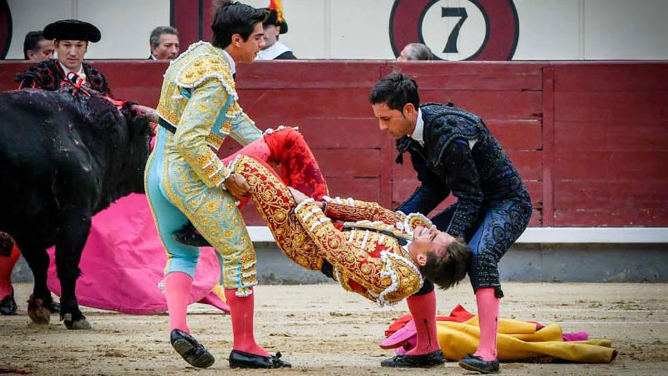 Gonzalo Caballero tras sufrir la grave cornada el pasado 12 de octubre en Las Ventas