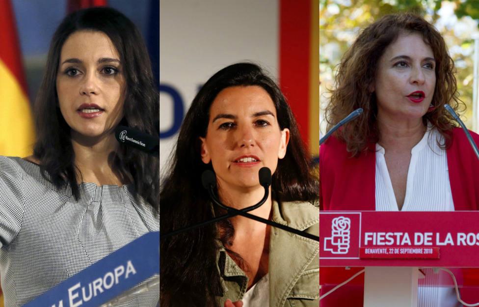 El vapuleo de Inés Arrimadas y Rocío Monasterio a Montero en el último debate antes de las elecciones