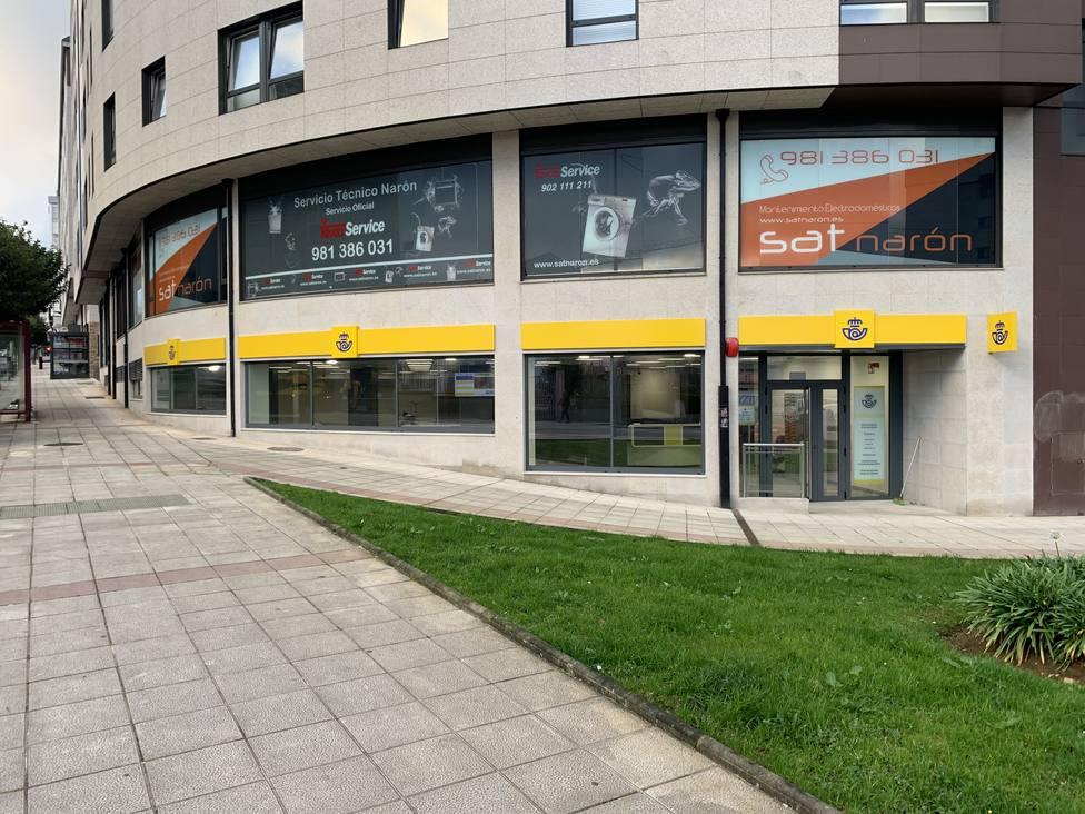 Exterior de la nueva oficina de Correos en Narón - FOTO: Correos