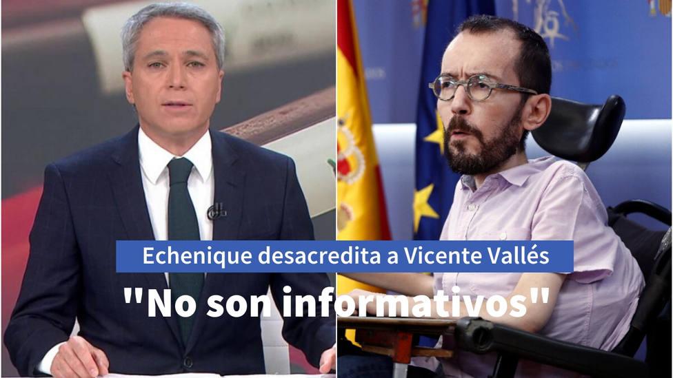 El ataque de Echenique a Vicente Vallés por retratar a Iglesias y su teoría de las cloacas del Estado