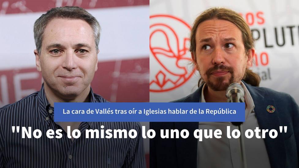 Esta es la cara de Vicente Vallés tras oír que Iglesias habla de un horizonte republicano plurinacional
